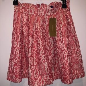 NWT pink lace Francesca's skirt